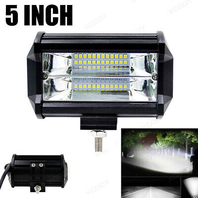 72W Spot ESSGOO LED Light Work Bar Lamp Drive Fog Offroad SUV 4WD Car Boat Truck