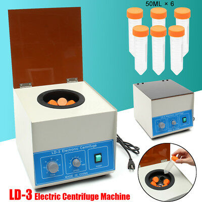 LD-3 80W 110V 4000 r/min Electric Benchtop Centrifuge Lab Medical 6*50ml US