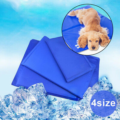 AU Pet Cooling Gel Mat Non-Toxic Summer Cool Pad Dog Cat Bed 4 Size