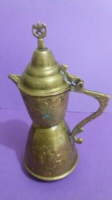 old  Arab Style Brass Coffee Pot  old brass for a coffee