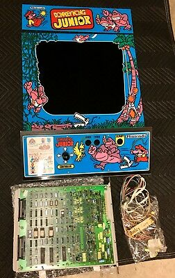 Donkey Kong Junior, Pcb, Marquee, Plexi, Control Panel, Wiring Package! Nintendo
