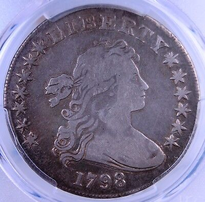 1798 Draped Bust Dollar Pcgs Vg08 Large Eagle Quite Pleasing And Looks Better
