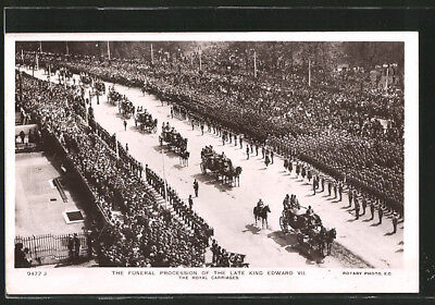AK The funeral procession of the late King Edward VII., The royal carriages