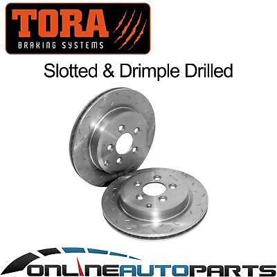 2 Rear Slotted Disc Brake Rotors Ford Territory TX TS  6/04-11 Ghia AWD RWD 4x4