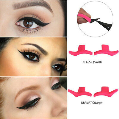 2PCS Wing Stamps Easy to Makeup Vamp Stamp Cat Eye Wing Eyeliner Stamp Tool