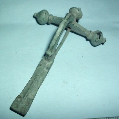 Massive Ancient Roman Legionary Bronze Crossbow Fibula Brooch - 200/300 Ad