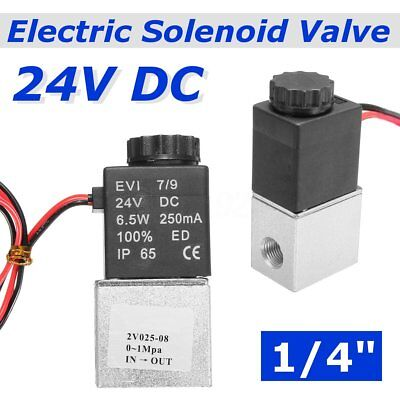 """US 1/4"""" NPT Electric Solenoid Valve AC 24V 2 Way Port Closed Air Water Oil Gas"""