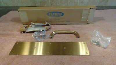 "Vintage Ives Solid Brass Door Pull Plate 8302-6  NEW 3 1/2""x 15"" MADE IN USA~NOS"