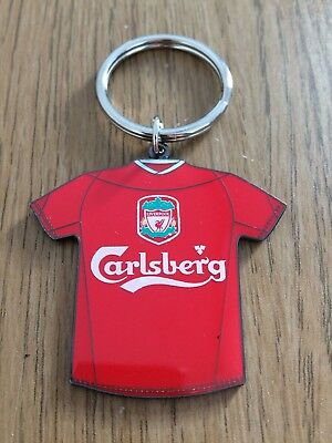 Liverpool Football Club FC Metal Retro Shirt Keyring Souvenir Memorabilia NEW