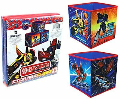 Transformers Collapsible Storage Box Cubes Kids Childrens Room Tidy (Set of 3)