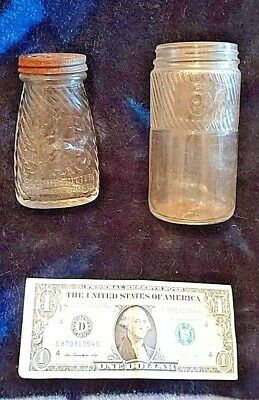 Two VERY RARE Jumbo peanut butter bottle jars-one with lid!!! Must see!!!!