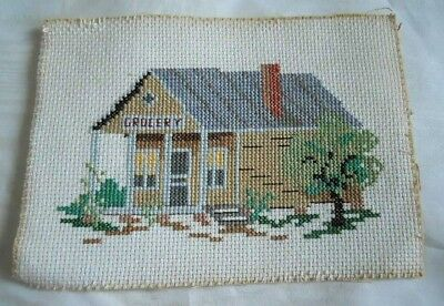 Advertising Needlepoint Vintage Grocery Country Store Folk Small Town America
