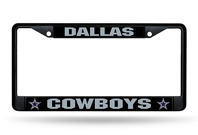 Dallas Cowboys Authentic Metal BLACK License Plate Frame Auto Truck Car NWT