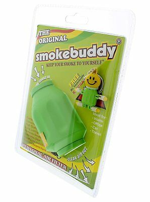 Smoke Buddy Personal Air Purifier Cleaner Filter Removes Odor - Lime Green