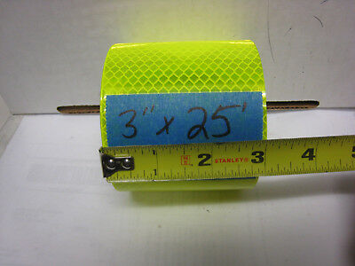 """NEON YELLOW  Reflective   Conspicuity  Tape 3"""" x 25 feet"""
