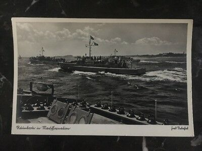 Mint Germany navy RPPC U Boat Picture Postcard Submarine Ranmbooln