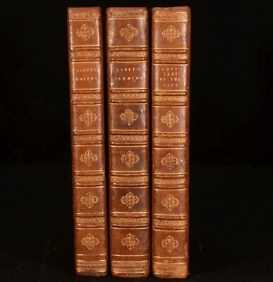 1808-1813 3 Vols Marmion The Lady of the Lake and Rokeby SCOTT FIRST Editions