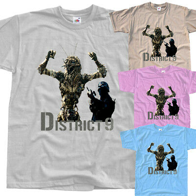 District 9 V10,movie poster,T SHIRT all sizes S to 5XL Sharlto Copley Jason Cop