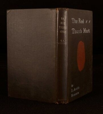 1907 The Red Thumb Mark by R Austin Freeman First Edition Scarce Signed