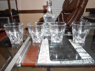 Courvoisier Decanter and Set of 4 Glasses