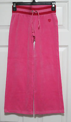 Gap Kids Sweatpants PINK Velour with Knit Waistband Girl's Size 8