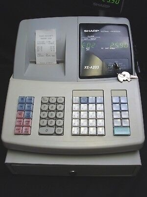 Sharp XE-A203 Electronic Digiral LED Cash Register with Keys