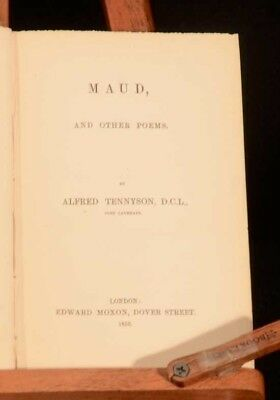1855 Maud Alfred Tennyson An Idyl Ode Wellington Daisy Will Charge Light Brigade