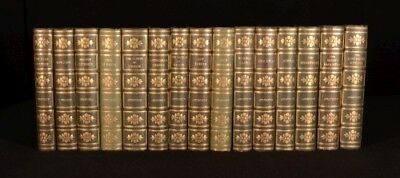 c1900 15vol Works Of Ainsworth Edition De Lux Illustrated By Cruikshank Et Al