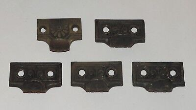 5 Antique East Lake Cast Iron Drawer Pulls Window Sash Lifts