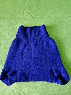 Disana 100% Organic Merino Wool Diaper Cover 2-3T Navy.lot6