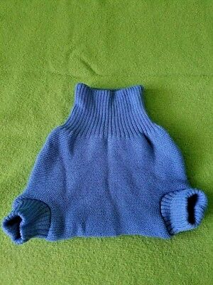 Disana 100% Organic Merino Wool Diaper Cover 12-24 months, Blue.lot7
