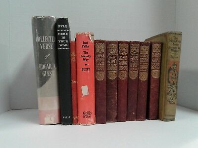 Lot of 11 Antique/Vintage Collectible Hard To Find Books G-VGC