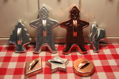 Vintage Mirro Aluminum & Copper Plated Metal Cookie Cutters! Gingerbread Star ++