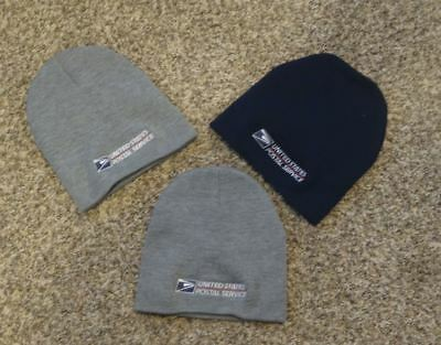 USPS Postal Gray Blue Beanie Cap Postal Logo Embroidered FREE SHIPPING BRAND NEW