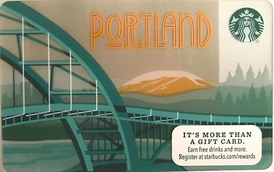 New 2015 Starbucks Portland Gift Card #6109 No Value Mint