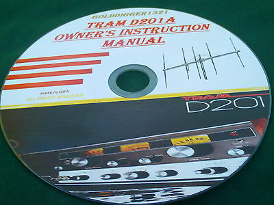 Tram D201A Cb Radio Owner's Instruction Manual On Cd