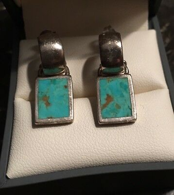 BARSE Turquoise Sterling Silver 925 Thai EARRINGS post