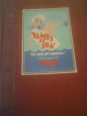 Theater program/ publicity  Dames At Sea The New Musical
