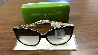 d15352a110a7 KATE SPADE SUNGLASSES MACKENZEE S 0UYY Black Pattern Red 57MM ...