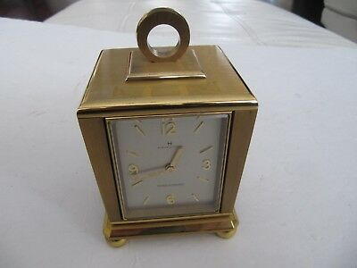 Vintage Swiss Hamilton Solid Brass Rotating Weather Station Clock Works