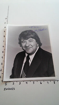 Hand Signed Autograph Buddy Hackett Comedian black and white