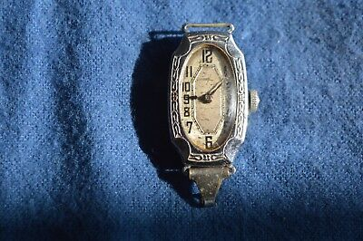 Vintage Antique Old Ladies Blancpain LeCoultre Art Deco Style Wristwatch