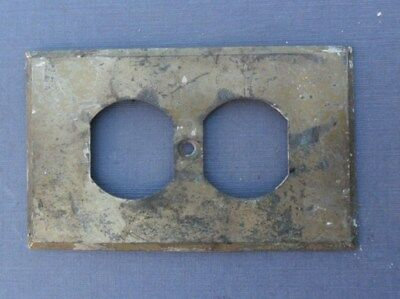 Antique Brass Wall Outlet Cover Plate