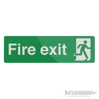 Fire Exit Sign 400 x 125mm Rigid Photoluminescent Signage Safety Signs 726937