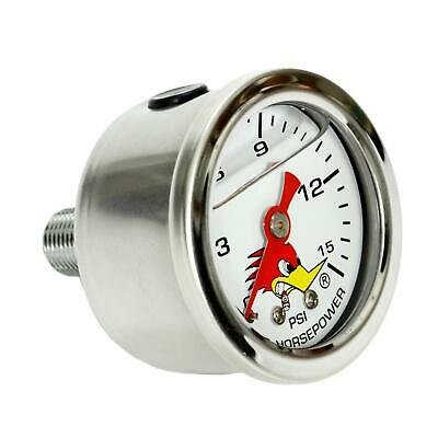 Clay Smith Cams 316-2015 Mr. Horsepower Fuel Pressure Gauge, Wht