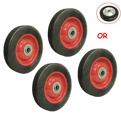 """(4pc ) 6"""" Solid Hard Rubber Tire for Dolly Hand Cart, 5/8"""" Axle Hole"""