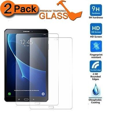 "2 Pack Tempered Glass For Samsung Galaxy Tab A6 7"" 10.1"" T580 9.7"" Tab E 9.6"""