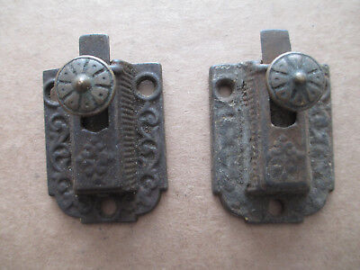 Ornate Cupboard Lock Cabinet Door Latch Antique Victorian Cast Iron