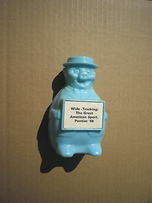 "Pontiac 1968 Piggy Bank - NOS - Vintage GM Dealer Item - ""Wide Tracking"""