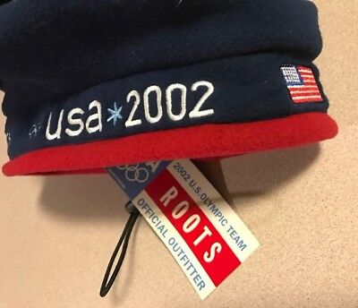 NWT ROOTS 2002 Olympics Beret Cap Hat Beanie USA US Olympic Team